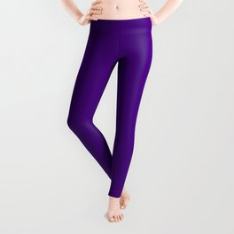 Solid Bright Purple Indigo Color Leggings