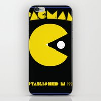 pac man iPhone & iPod Skins featuring pac-man by CJones5105