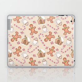 Gingerbread & Peppermint Repeat Pattern -Holiday Pattern Laptop & iPad Skin
