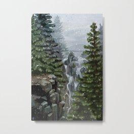Mount Rainier National Park (Snowing) Metal Print