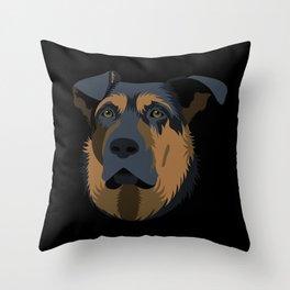 Ruby (German Shepard) Throw Pillow