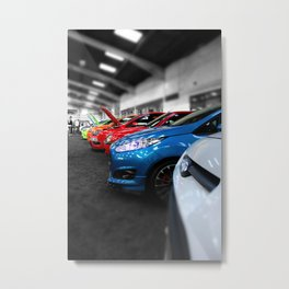 Rainbow of Cars Metal Print
