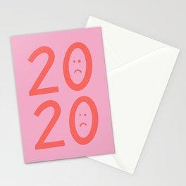 2020 Unhappy Emoji Year Stationery Cards