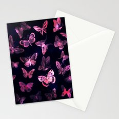 Night butterflies Stationery Cards
