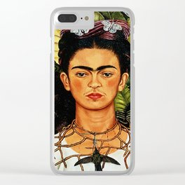 Frida Kahlo Cat Clear iPhone Case