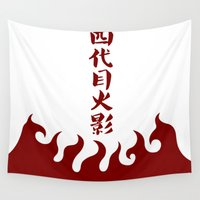 naruto Wall Tapestries featuring Naruto 4th Hokage by Ruo7in