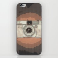 vintage camera iPhone & iPod Skins featuring Camera by Mr and Mrs Quirynen