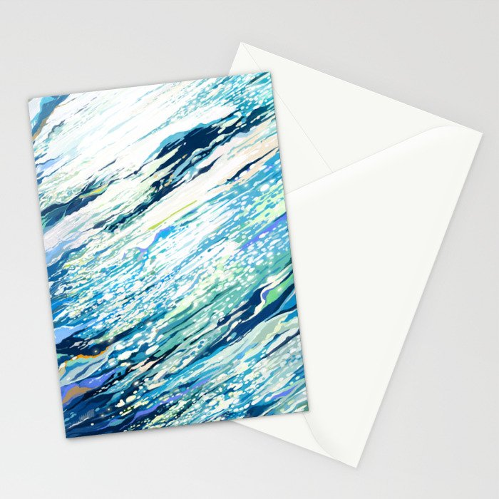 Silent Blue Stationery Cards