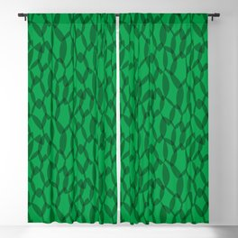 Overlapping Leaves - Dark Green Blackout Curtain