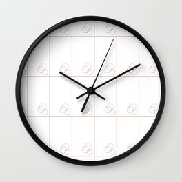 Minimal Circles Grid - White Wall Clock