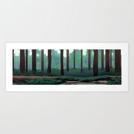 Redwood Vacation Art Print