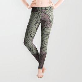 Vector Seamless Leaves Pattern II Leggings