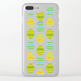 Kawaii Easter Eggs Clear iPhone Case