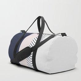 Navy Blush and Grey Arrow Duffle Bag