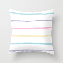 Pastel colors lines pattern Throw Pillow