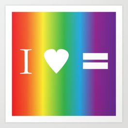 I heart Equality Art Print