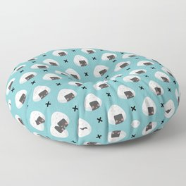 Cute Riceball with Face Pattern Floor Pillow