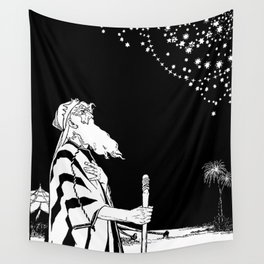 Abraham Contemplates the Stars Wall Tapestry