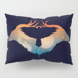 Night sky over savanna Pillow Sham