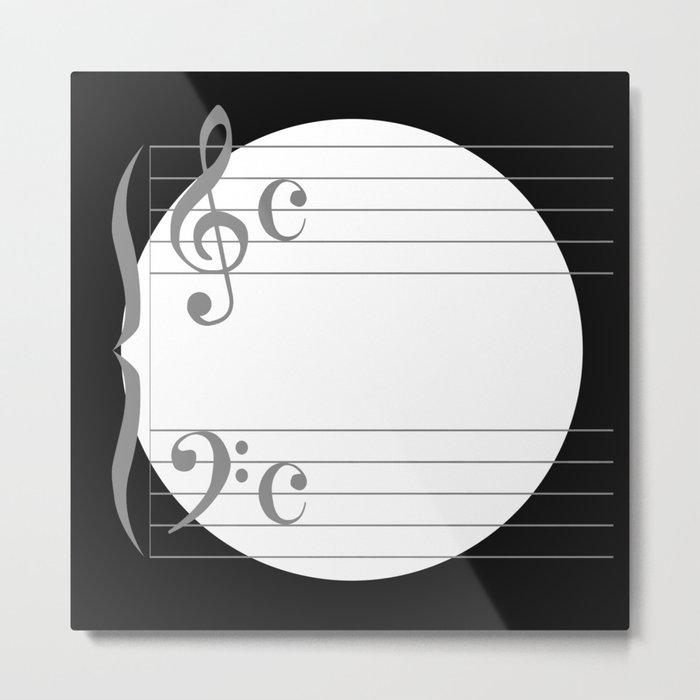 Music Circle Metal Print