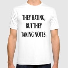 HATERS White Mens Fitted Tee MEDIUM