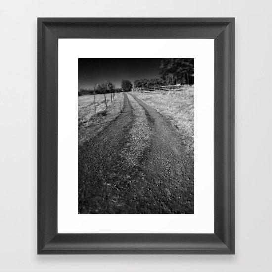 The Path Less Traveled On  Framed Art Print