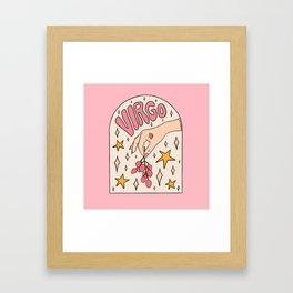 Virgo Lychee Framed Art Print