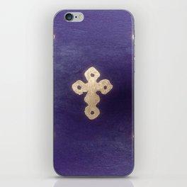 Golden Crosses on Purple iPhone Skin