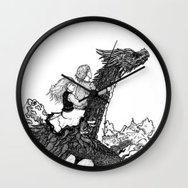 Dragonborn kids Wall Clock
