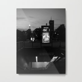 Brussels City by Night Metal Print