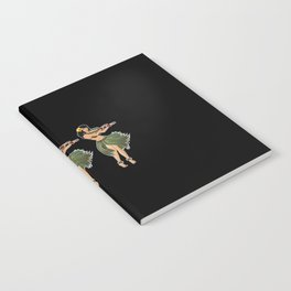 Beautiful Hula Girl Dancing the Hula BLK Notebook