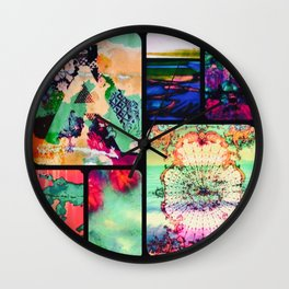Textured Collage Wall Clock