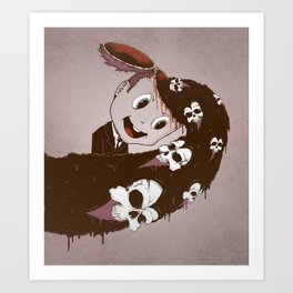 Head Spill Art Print