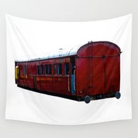 train Wall Tapestries featuring Train Carriage by Benedict Middleton