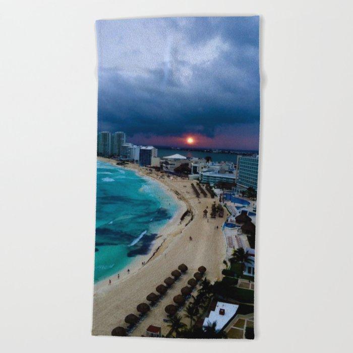 Mexico Beach Towel By Catlameownahan