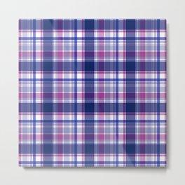 Blue and purple Tartan (Scotch) Pattern Metal Print