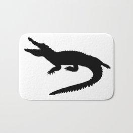 Crocodile Black Silhouette Animal Pet Cool Style Bath Mat