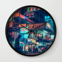 Mong Kok Nights Wall Clock