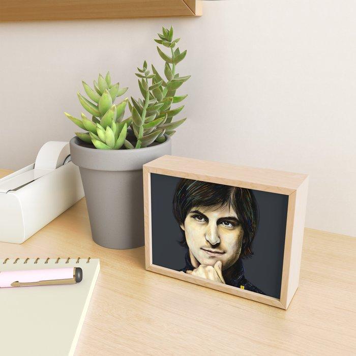 Inspiring Steve Framed Mini Art Print