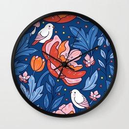 Art nouveau blue Wall Clock