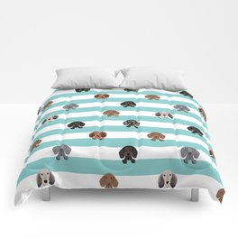 dachshund stripes dog breed doxie gifts Comforters