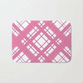Rose Plaid Chalk Graphic Design Pattern Bath Mat