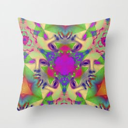 Greek Triangular Yantra 2 Throw Pillow