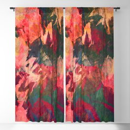 It's Complicated, Abstract Leaves Blackout Curtain