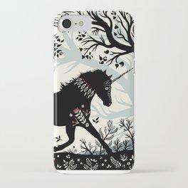 Folk Unicorn iPhone Case