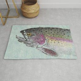 Rainbow Trout - Gyotaku Rug