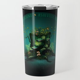 Asheville, NC - Nature's Playground - AVL 23 Wizard Stump Travel Mug