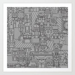 Bot City Art Print