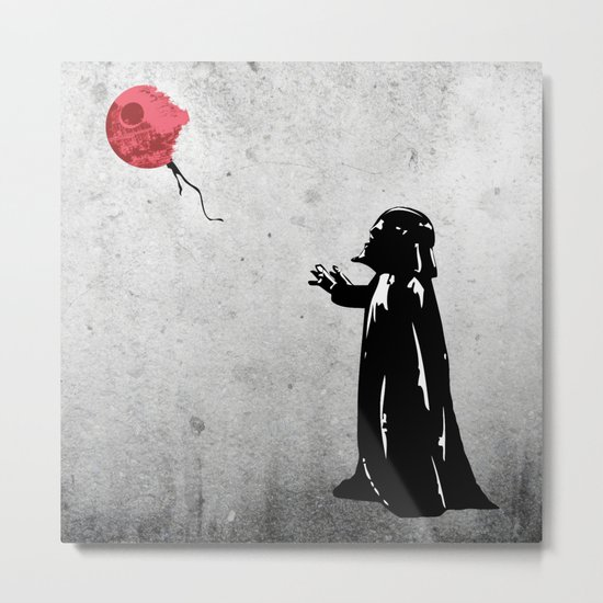 Little Vader - Inspired by Banksy Metal Print