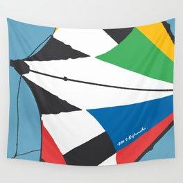 Kite—Sky Blue Wall Tapestry